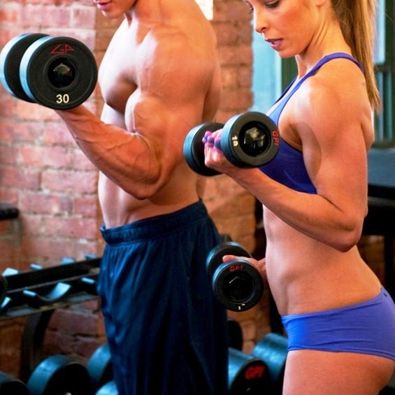 chọn mức tạ đủ nặng với cơ thể