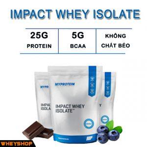 Impact Whey Isolate 5kg là sản phẩm My Protein Isolate Chính hãng sản xuất tại UK wheyshop