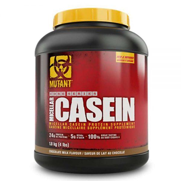 Casein Protein có trong thực phẩm bổ sung MUTANT MICELLAR CASEIN là nguồn dinh dưỡng bổ sung cho người chơi thể thao và tập thể hình chuyên nghiệp