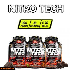 Nitrotech 4lbs nhập khẩu chính hãng giá rẻ của hãng muscletech wheyshop.vn