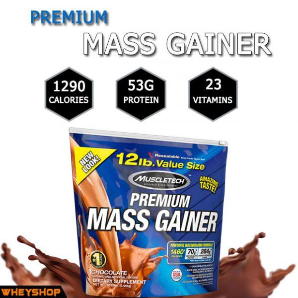 Premium Mass Gainer 12lbs (5.4kg) chính hãng được đánh giá tốt cho người tập Gym