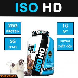 iso hd bpi là sản phâm whey protein isolate hỗ trợ tăng cơ giá rẻ