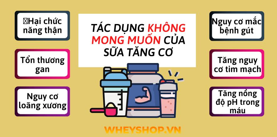 Cùng WheyShop tìm hiểu Những tác dụng không mong muốn của sữa tăng cơ đối với cơ thể để giúp bảo vệ sức khỏe toàn diện...