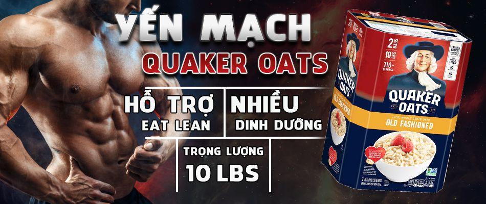 Yến mạch Quaker Oats cung cấp nguồn tinh bột tốt hỗ trợ giảm cân, cải thiện sức khỏe tim mạch, hệ tiêu hóa. Yến mạch Quaker nhập khẩu chính hãng, giá rẻ.
