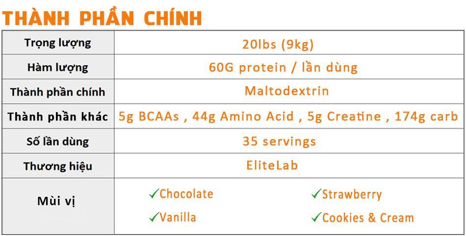 Mass muscle 20lbs gia re chinh hang tang can tang co WHEYSHOPVN VN 1