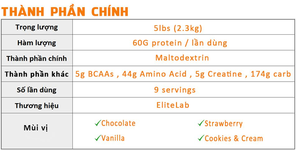 Mass muscle 5lbs gia re chinh hang tang can tang co WHEYSHOPVN VN 1
