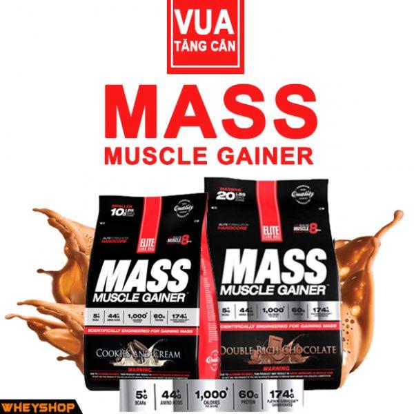 Sản phẩm tăng cân Mass Muscle Gainer chĩnh hãng do wheyshop cung cấp mang lại giá trị dinh dưỡng đích thực cho người sử dụng.