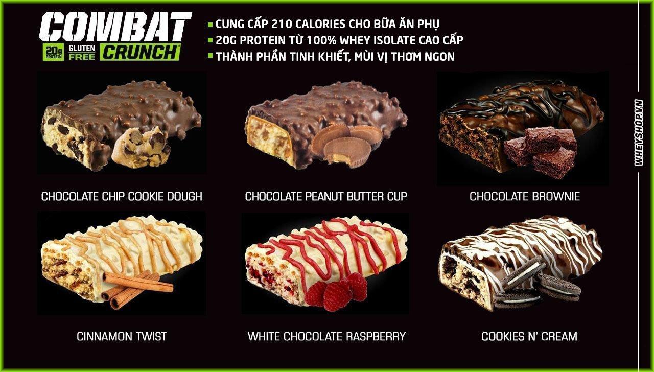 Musclepharm combat crunch bar là sản phẩm bánh protein chính hãng giá tốt 2019
