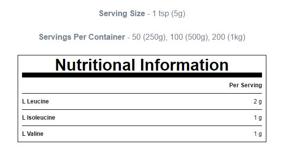 BCAA Myprotein 1kg 3
