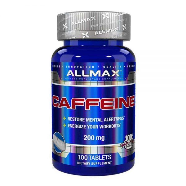 Allmax Caffeine 100 viên cung cấp 200mg caffeine hỗ trợ tăng sức mạnh, tập trung và khả năng tỉnh táo, cải thiện hiệu suất tập hiệu quả. Allmax Caffeine 100 viên nhập khẩu chính hãng, cam kết chất lượng, giá rẻ nhất tại Hà Nội & Tp.HCM