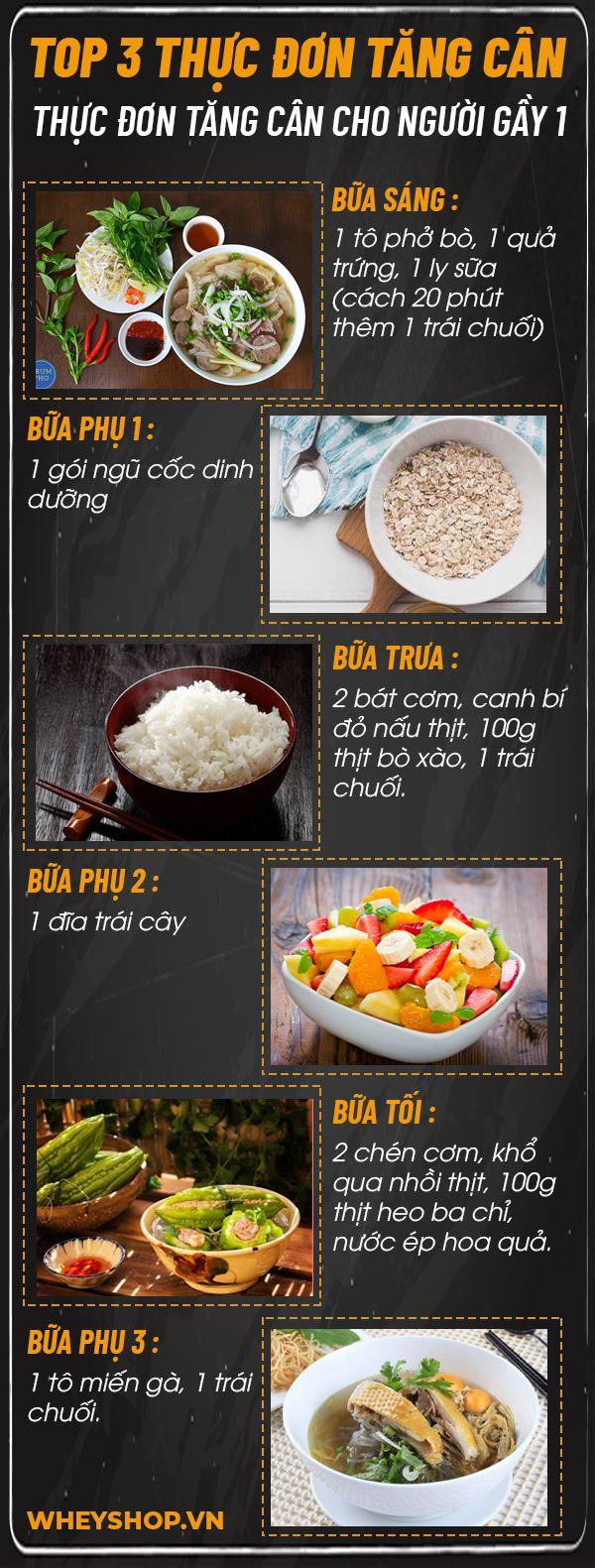 Bạn ăn nhiều nhưng vẫn chưa tăng cân ? Cùng WheyShop tìm hiểu ngay 3 thực đơn tăng cân cho người gầy hiệu quả nhất, dễ dàng thực hiện đơn giản...