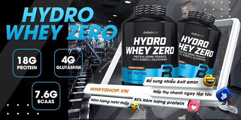 Biotech Hydro whey zero 4lbs whey tính khiết chính hãng giá rẻ hà nội.Hydro whey zero bổ sung whey protein hỗ trợ tăng cơ nhanh tính khiết