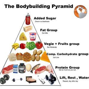 Mô hình tháp dinh dưỡng cho người tập thể hình tốt nhất