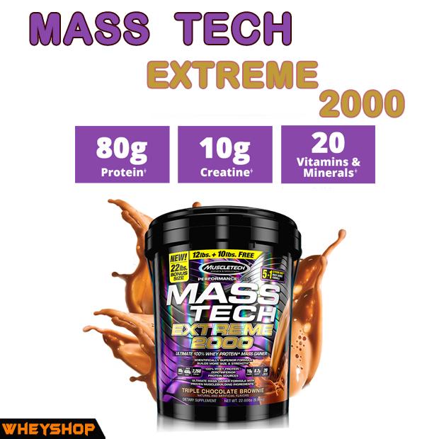 MASS TECH EXTREME 2000 (20lbs) - Dinh Dưỡng Thể Hình - Whey protein chính hãng