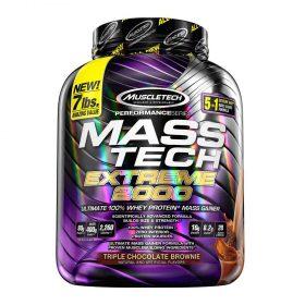 Sữa tăng cân MuscleTech Mass Tech Extreme 2000 cung cấp 2060kcal từ nguồn carbs hấp thụ chậm và 60g protein siêu tinh khiết. Đảm bảo giúp tăng cân nhanh chóng