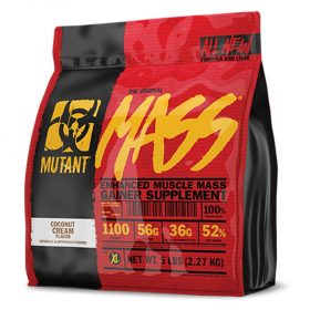 Mutant Mass 5lbs là sản phẩm tăng cân tăng cơ nạc đang bán chạy hàng đầu trên thị trường. cung cấp hàm lượng lớn dinh dưỡng hỗ trợ tăng cân tăng cơ dễ dàng.