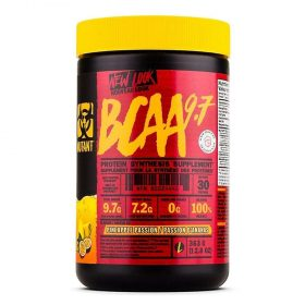 Mutant BCAA 9.7 30 lần dùng là sản phẩm chống dị hóa cơ bắp, phục hồi cơ bắp hàng đầu hiện này trên thị trường. Mutant BCAA 9.7 nhập khẩu chính hãng, cam kết chất lượng, giá rẻ nhất tại Hà Nội & Tp.HCM.