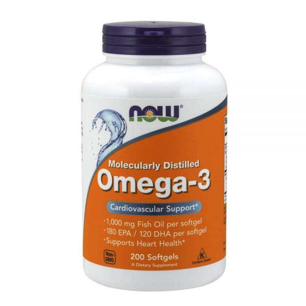 Now Omega 3 200 viên là sản phẩm bổ sung dầu cá hỗ trợ cải thiện tim mạch, tốt cho mắt, giảm cholesterol . Now Omega 3 nhập khẩu chính hãng, cam kết chất lượng, giá rẻ nhất tại Hà Nội & Tp.HCM.