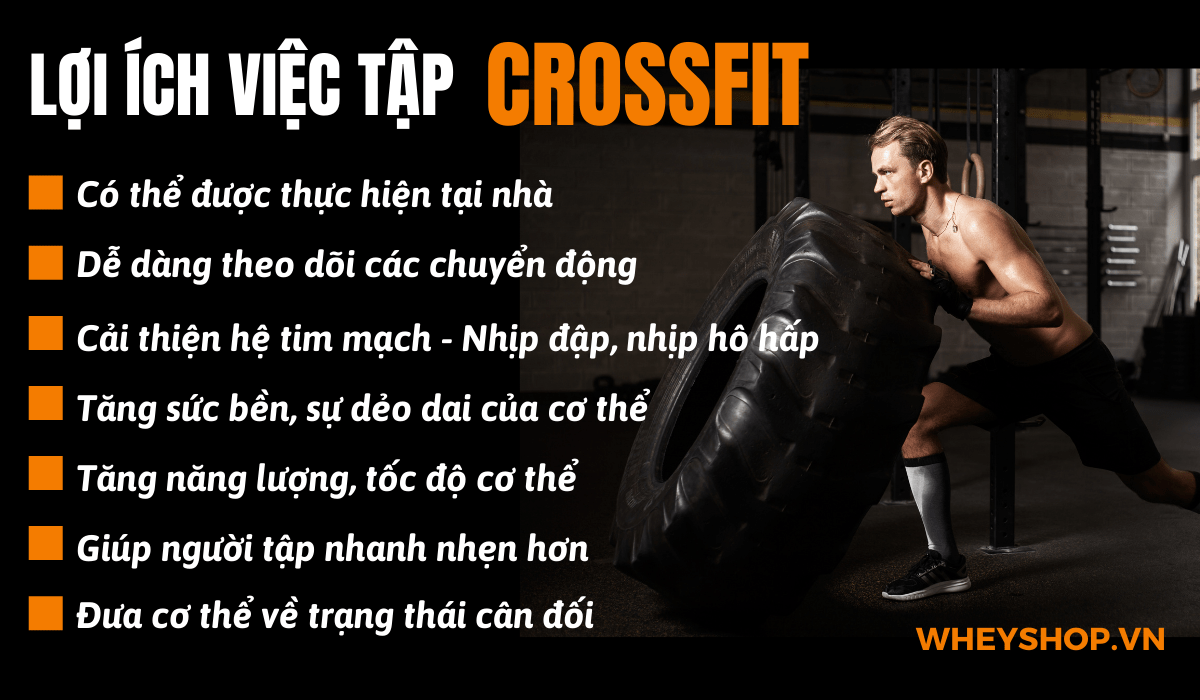 Crossfit là gì? Nói một cách đơn giản, Crossfit là một loại hình đào tạo sẽ giúp bạn mạnh mẽ hơn, săn chắc hơn và xây dựng cơ bắp trên một loạt các bài tập khác nhau