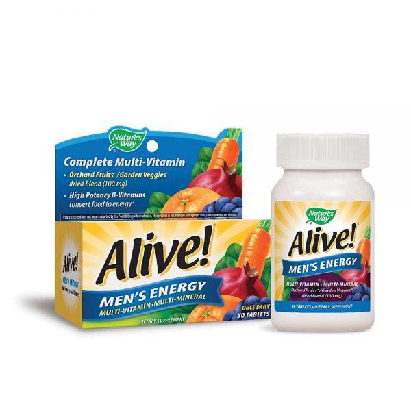 Alive Men's Energy bổ sung 25 nguồn vitamin, khoáng chất cho nam giới cải thiện sức khỏe, sức đề kháng toàn diện. Alive Men's Energy chính hãng, giá rẻ tại HN HCM