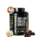 NutraBio® 100% Whey Protein Isolate 5lbs ( 2.3kg ) - Tăng cơ giảm mỡ