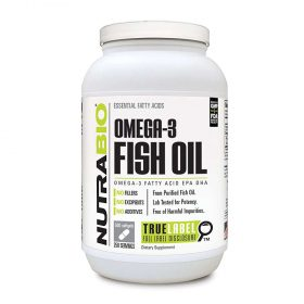 Viên uống dầu cá NutraBio Fish Oil Omega 3 (500 viên) hỗ trợ sức khỏe toàn diện, cải thiện mắt, não bộ , tim mạch cùng nhiều lợi ích khác với giá cực rẻ ...