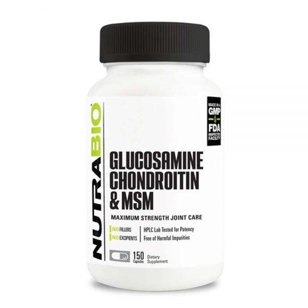 NutraBio® Glucosamine Chondroitin OptiMSM 150v gia re ha noi tphcm