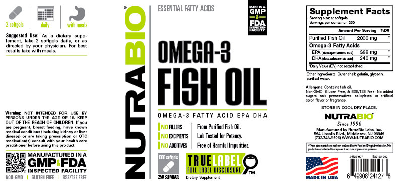 NutraBio® Fish Oil 500 viên 2