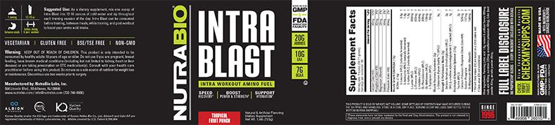 NutraBio® Intra Blast 30 servings 3