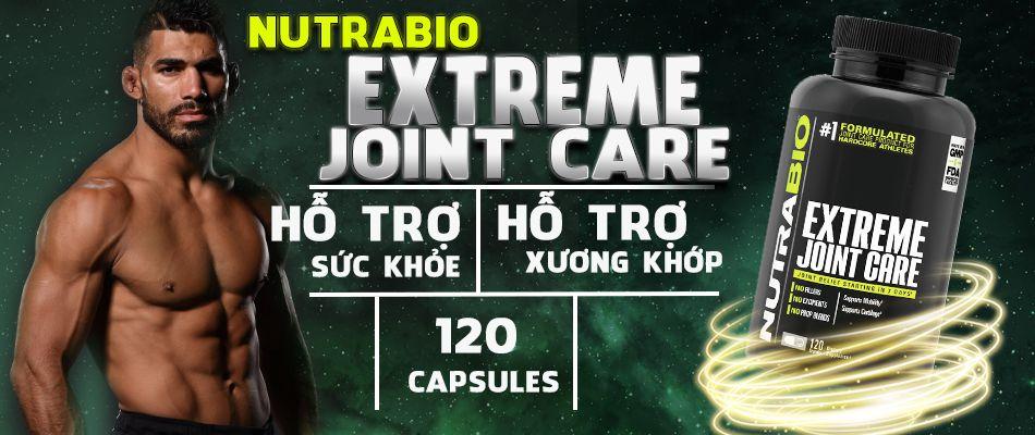 NutraBio Extreme Joint Care 120 viên là sản phẩm bổ sung hỗ trợ xương khớp linh hoạt, duy trì và phục hồi mô liên kết khỏe mạnh tốt nhất hiện nay trên thị trường