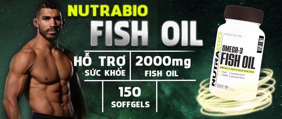 NutraBio Fish Oil 150 viên là sản phẩm bổ sung axit béo thiết yếu cho não bộ,tim mạch, mắt đang khuyến mãi giá rẻ nhất thị trường...