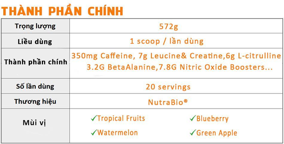 nutrabio pre tang suc manh phat trien co bap gia re chinh hang wheyshop1