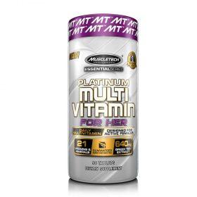 Platinum Multi Vitamin for her bổ sung Vitamin và khoáng chất cải thiện sức khỏe nữ giới. Platinum Multi Vitamin for her nhập khẩu chính hãng, cam kết chất lượng, giá rẻ nhất tại Hà Nội & Tp.HCM.