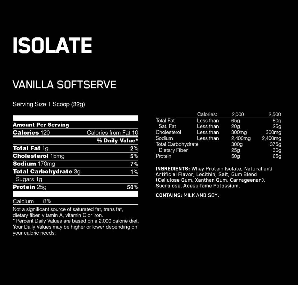ON Isolate 3lbs (1,38kg) 2