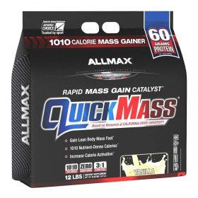 Sữa tăng cân Allmax Nutrition Quickmass 12lbs (5.44kg) cung cấp 1010 calo và 60g protein chất lượng cao