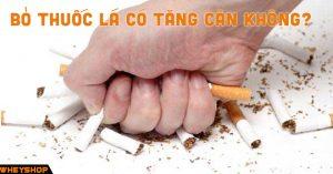 Bỏ thuốc lá có tăng cân không
