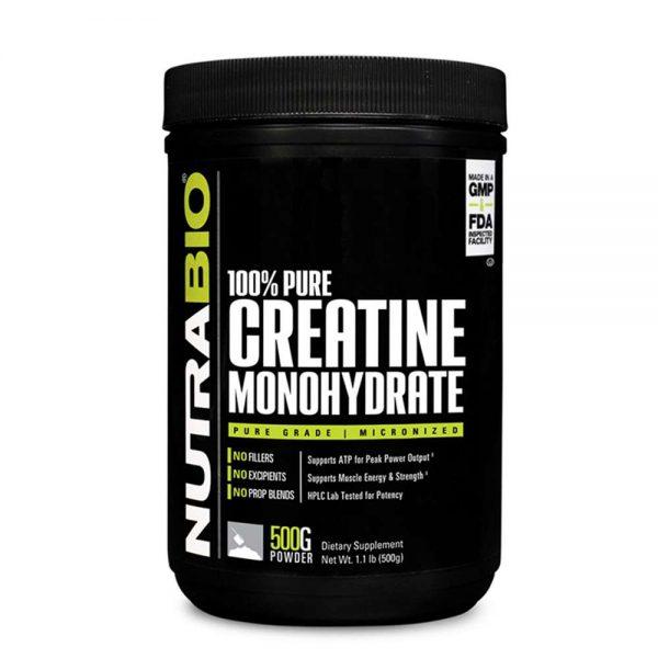 Nutrabio Creatine Monohydrate 500G tăng sức mạnh sức bền và khối lượng cơ bắp tốt nhất,Nutrabio Creatine Monohydrate 500G chính hãng tại Hà Nội và Tp. HCM.