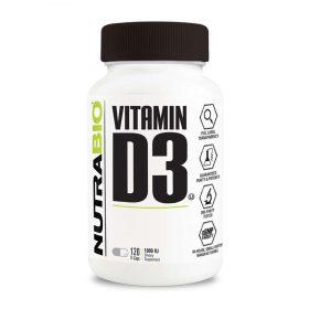 NutraBio Vitamin D3 5000IU hỗ trợ sức khỏe xương khớp, tăng cường hormone nam đối với nam giới, bổ sung hệ thống miễn dịch tốt nhất, chính hãng, giá rẻ