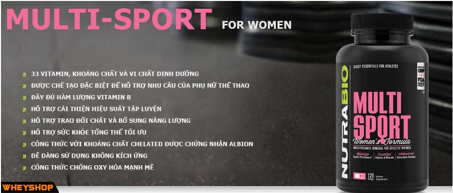 mutil sport forwomen bổ sung vitamin tổng hợp cho nữ giới