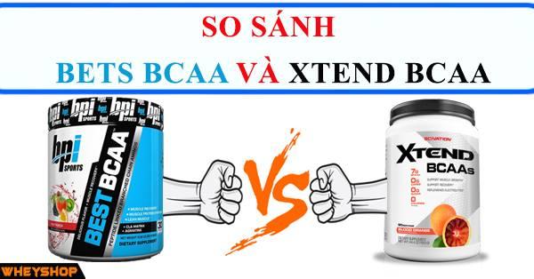 So sánh Best BCAA và Xtend BCAA 1