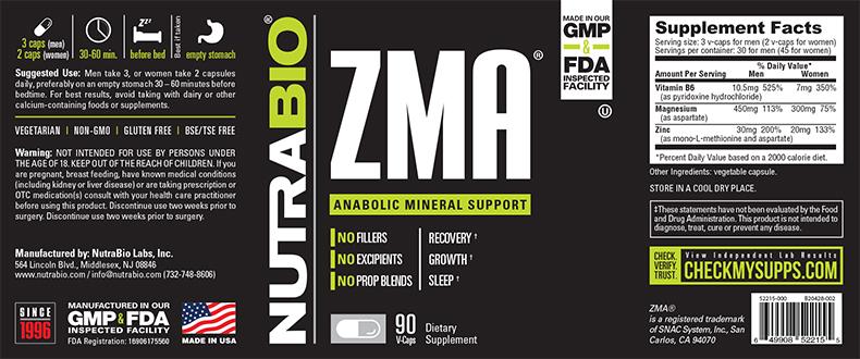 NutraBio® ZMA 90 viên 2