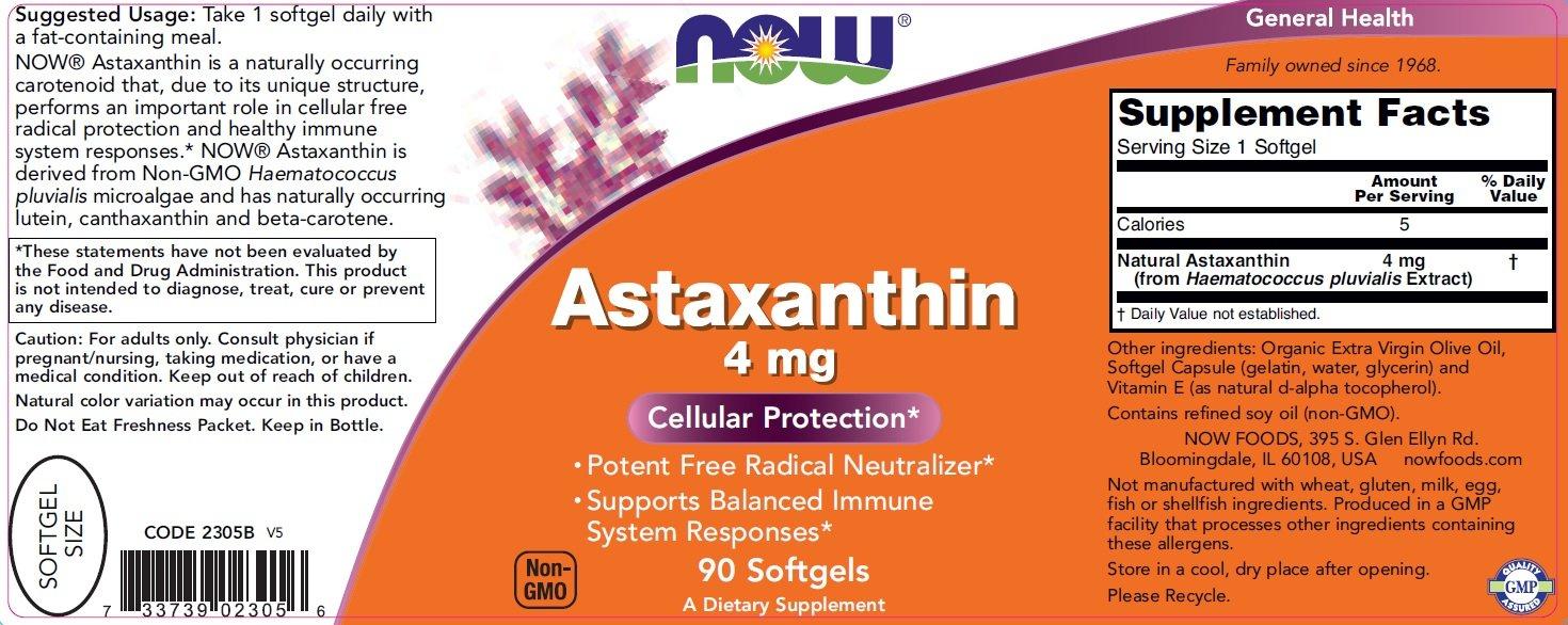 Now Astaxathin 4mg 60 viên 1
