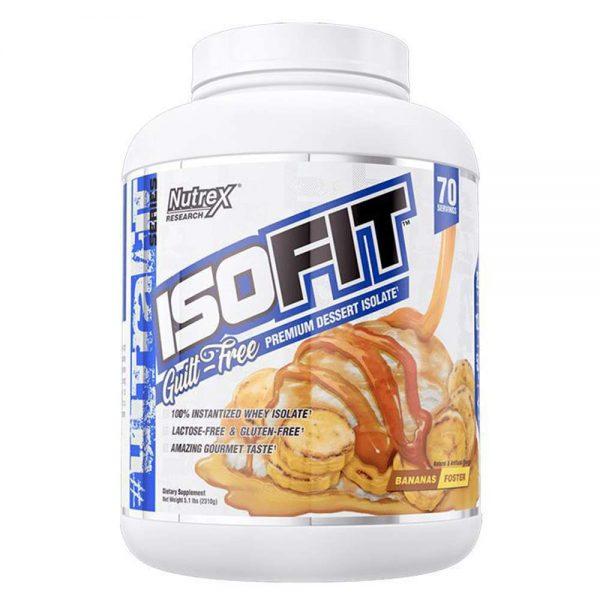 Nutrex ISOFIT 5lbs (2,27kg) 100% Whey Protein Isolate tối ưu quá trình tăng cơ , phục hồi cơ sau tập