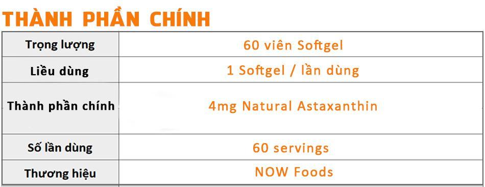 now astaxanthin 4 mg viitamin chong lao hoa tang suc de khang gia re chinh hang wheyshop1