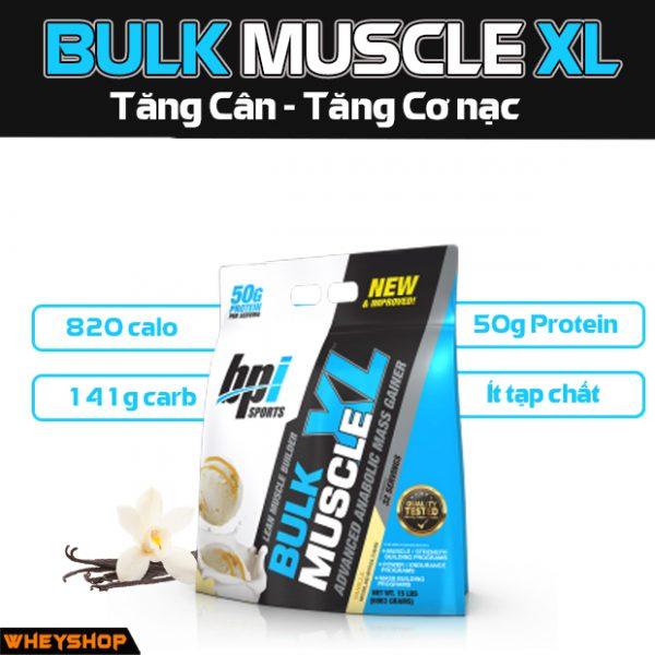 BULK MUSCLE XL BPI tang can tang co nhanh gia re nhat chinh hang ha noi tphcm WHEYSHOP VN