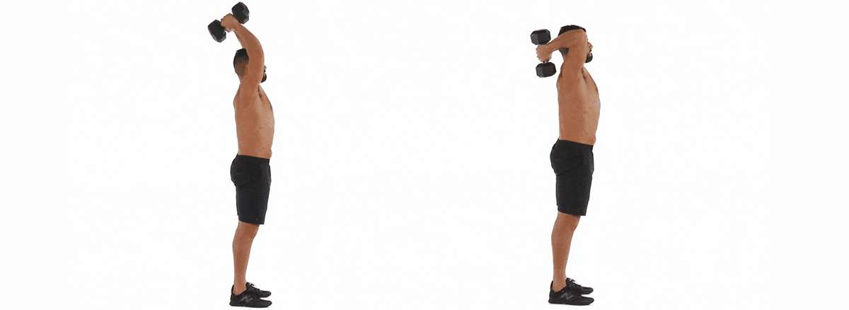 10 bai tap tay sau hieu qua cho ngoi moi tap gym Overhead Triceps Extension