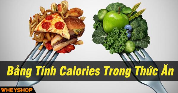 Bảng Tính Calories Trong Thức Ăn