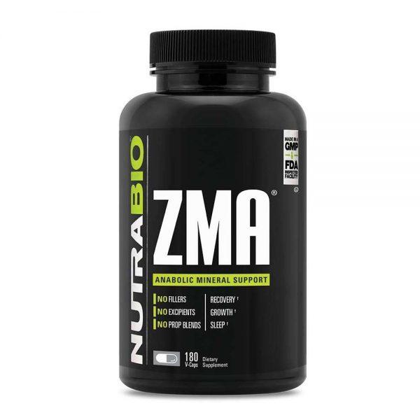 NutraBio ZMA 180 viên bổ sung vitamin B6 và khoáng chất cải thiện giấc ngủ, tăng testosterone tự nhiên, phục hồi cơ bắp và nhiều lợi ích tốt cho sức khỏe. NutraBio ZMA 180 viên nhập khẩu chính hãng, cam kết chất lượng, giá rẻ nhất tại Hà Nội & Tp.HCM