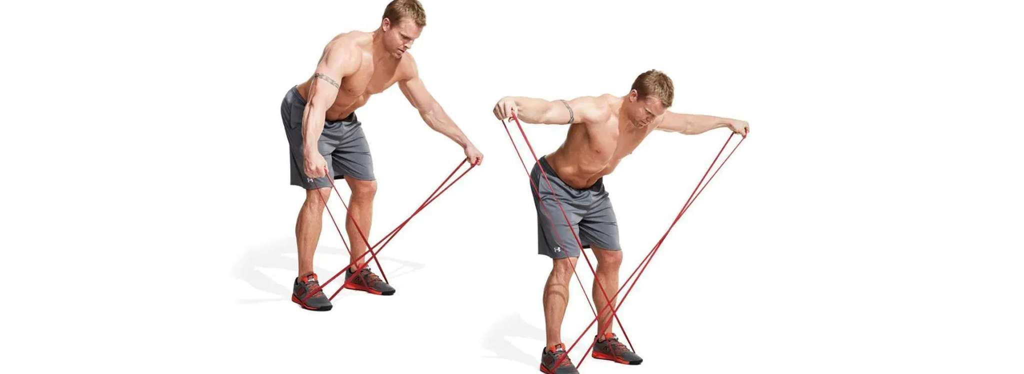 30 bai tap co vai truoc va tap co vai sau tot nhat moi thoi dai Band Bent-Over Lateral Raise