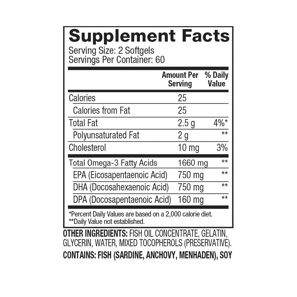 Dymatize Omega-3 Fish Oil 120 viên 1